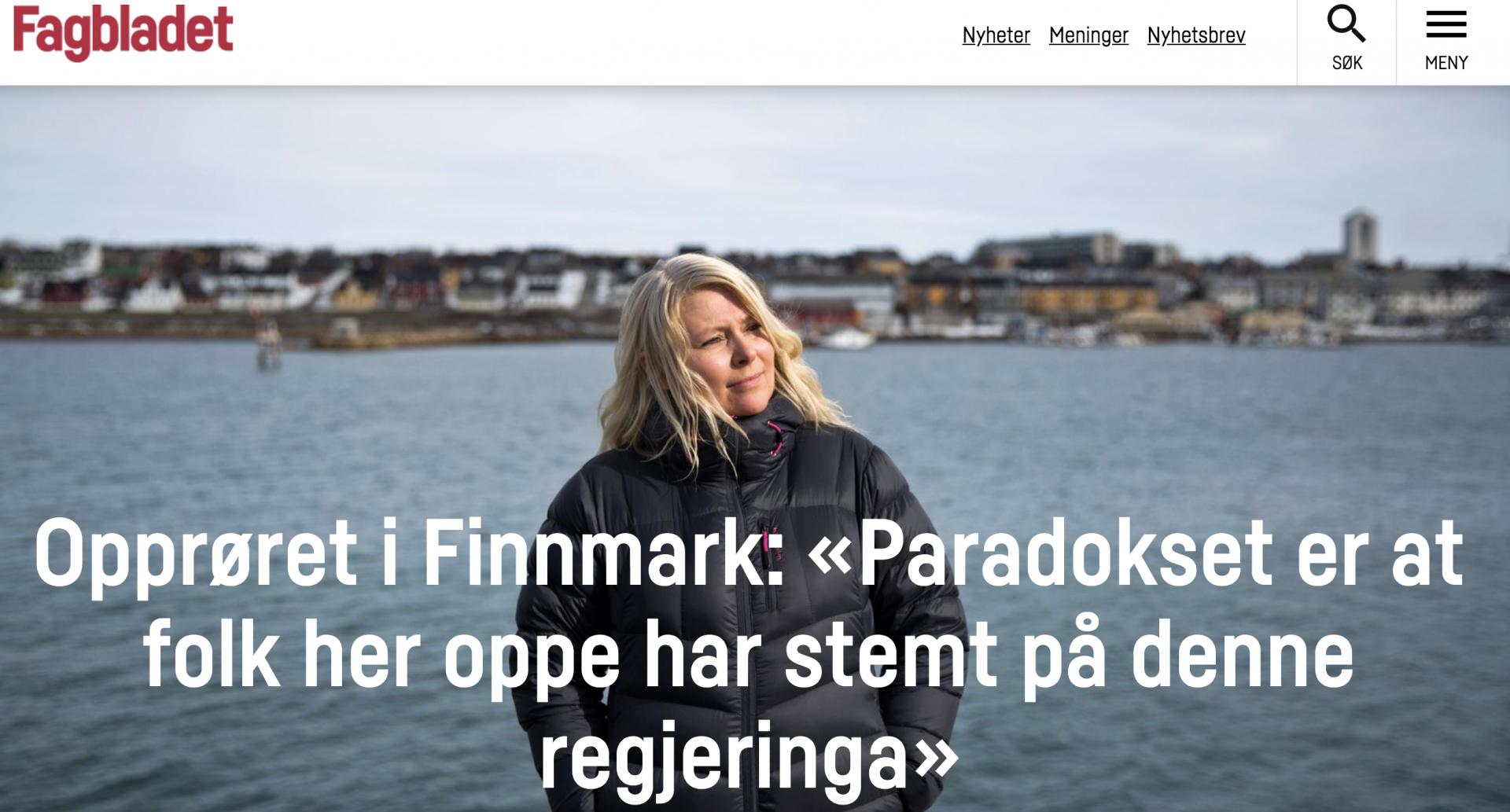 Fagbladet: Opprøret i Finnmark